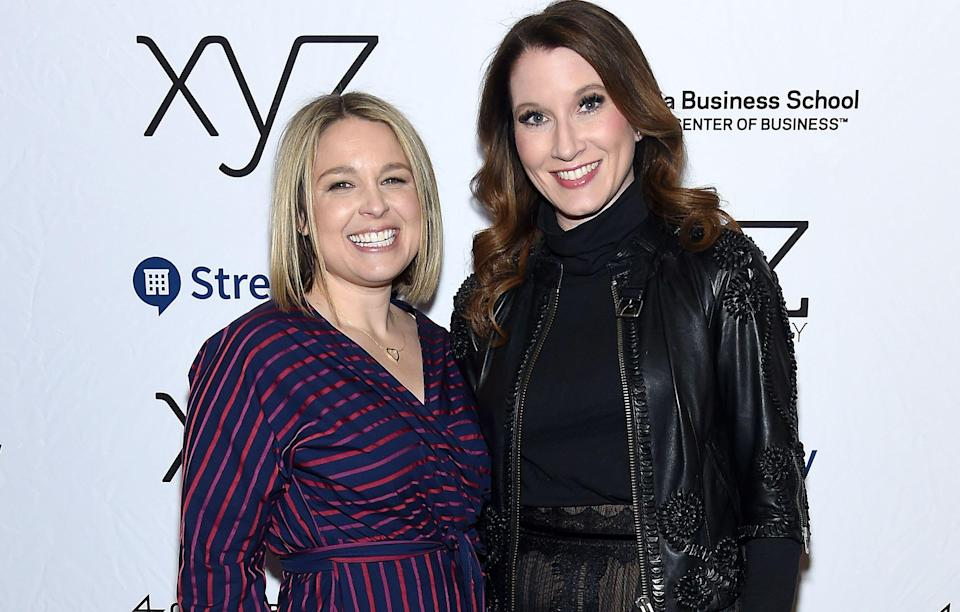 "Joanna Teplin and Clea Shearer at ""The Home Edit: Clea Shearer and Joanna Teplin In Conversation With Joanna Goddard"" at the 92nd Street Y on March 18, 2019, in New York City."