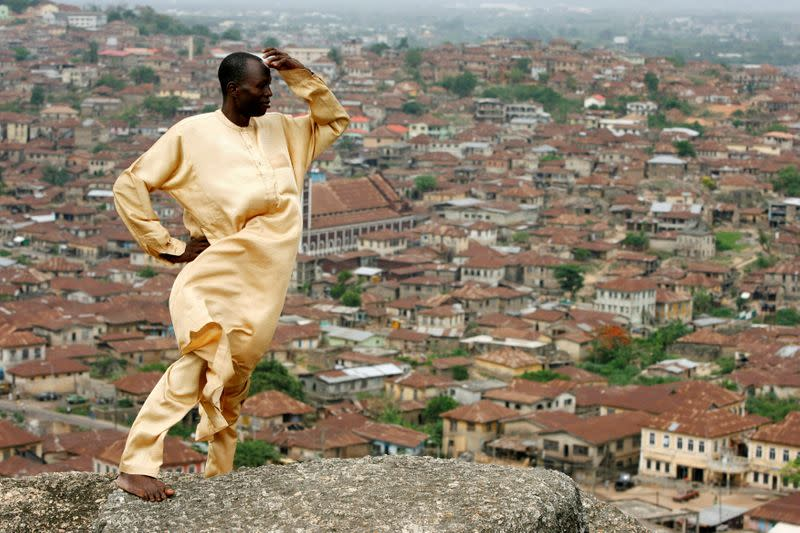 FILE PHOTO: Sotomi looks out over the southern Nigerian city of Abeokuta