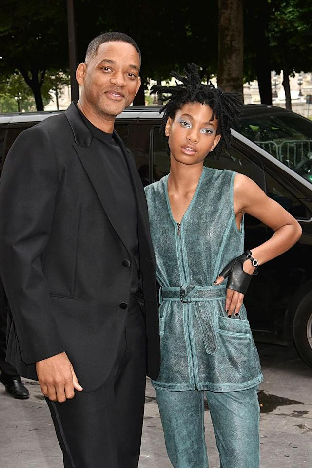 Will and Willow Smith attend the Chanel show during Paris Fashion Week Haute Couture Fall/Winter 2016-2017 on July 5, 2016, in Paris. (Photo by Foc Kan/WireImage)