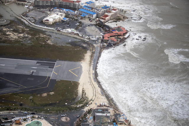 <p>The coast in the aftermath of Hurricane Irma, in St. Maarten. Irma cut a path of devastation across the northern Caribbean, leaving thousands homeless after destroying buildings and uprooting trees, Sept. 6, 2017. (Photo: Gerben Van Es/Dutch Defense Ministry via AP) </p>