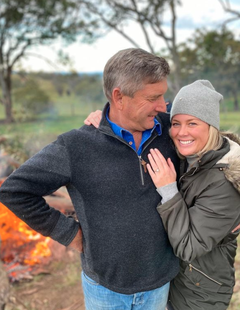 Samantha Armytage and Richard Lavender on their engagement day