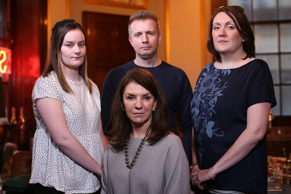 Dr Harper, front-centre, meets people living with severe IBS on the documentary (Channel 5/PA)