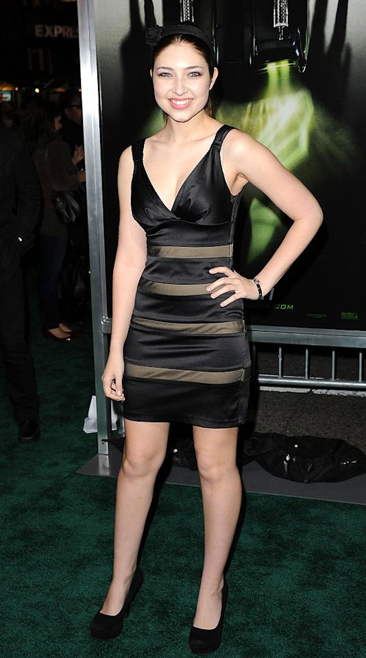 """<a href=""""http://movies.yahoo.com/movie/contributor/1809721379"""">Shelby Young</a> attends the Los Angeles premiere of <a href=""""http://movies.yahoo.com/movie/1808411967/info"""">The Green Hornet</a> on January 10, 2011."""