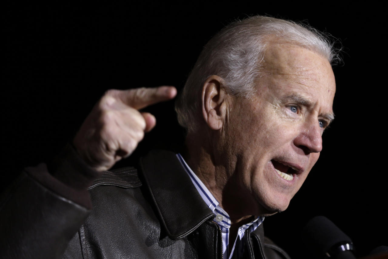 Vice President Joe Biden speaks during a campaign rally at the American Civil War Center at the Historic Tredegar Monday, Nov. 5, 2012, in Richmond, Va. (AP Photo/Matt Rourke)
