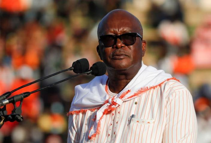 President Kabore holds final rally ahead of presidential election in Burkina Faso