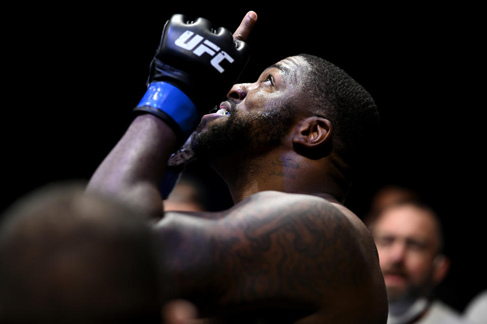 JACKSONVILLE, FLORIDA - MAY 16: Walt Harris of the United States prepares for his Heavyweight bout against Alistair Overeem of Great Britain fights during UFC Fight Night at VyStar Veterans Memorial Arena on May 16, 2020 in Jacksonville, Florida. (Photo by Douglas P. DeFelice/Getty Images)