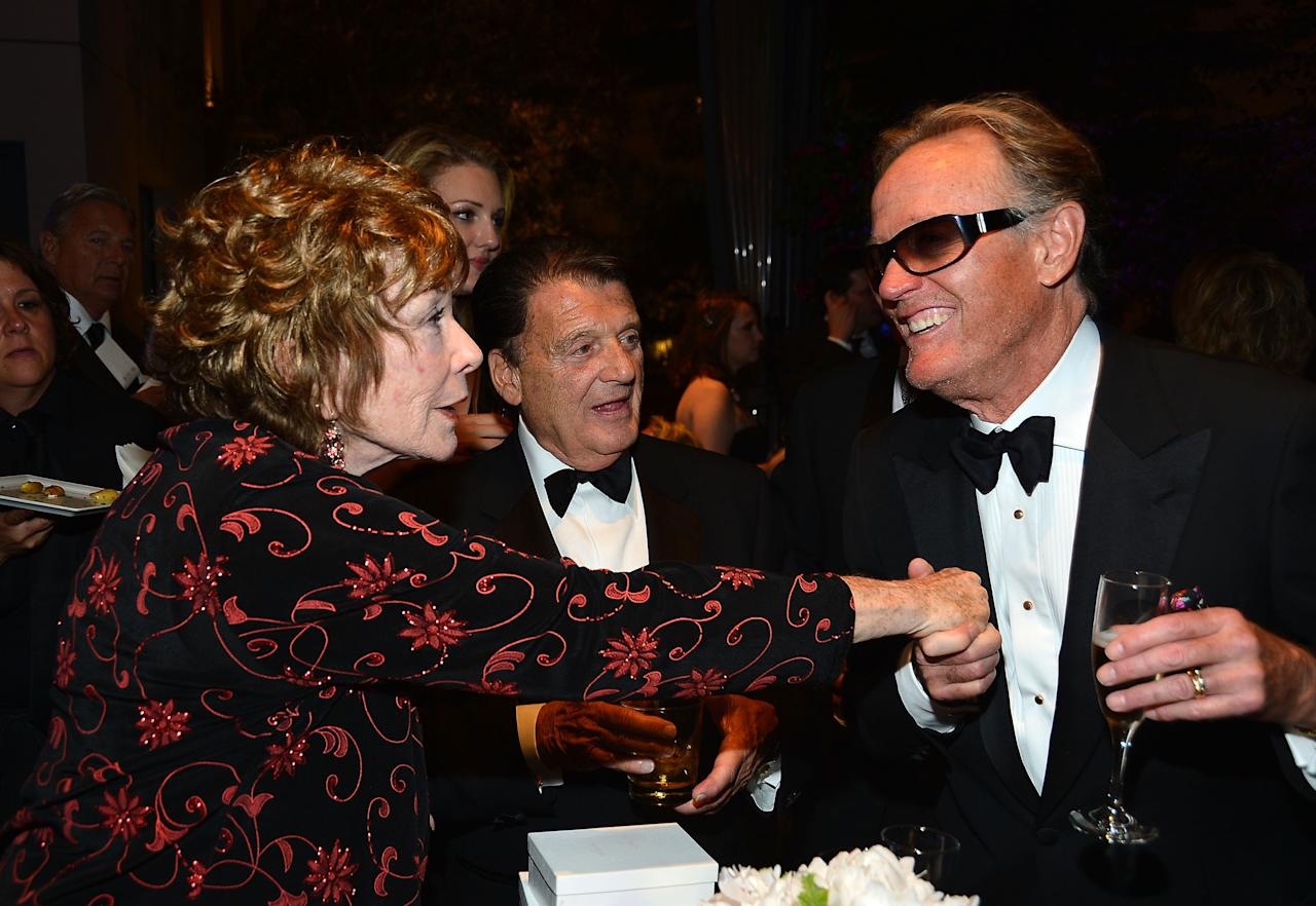 CULVER CITY, CA - JUNE 07:  Honoree Shirley MacLaine, Jack Gilardi and actor Peter Fonda attend the after party for the 40th AFI Life Achievement Award honoring Shirley MacLaine held at Sony Pictures Studios on June 7, 2012 in Culver City, California. The AFI Life Achievement Award tribute to Shirley MacLaine will premiere on TV Land on Saturday, June 24 at 9PM ET/PST.  (Photo by Frazer Harrison/Getty Images for AFI)