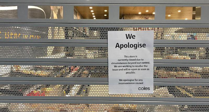 Coles re-opens after system 'glitch'