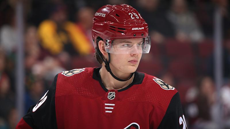 Arizona Coyotes forward Barrett Hayton could be in the running for tournament MVP at the 2020 World Juniors, where he's expected to play a major role for Team Canada. (Christian Petersen/Getty Images)