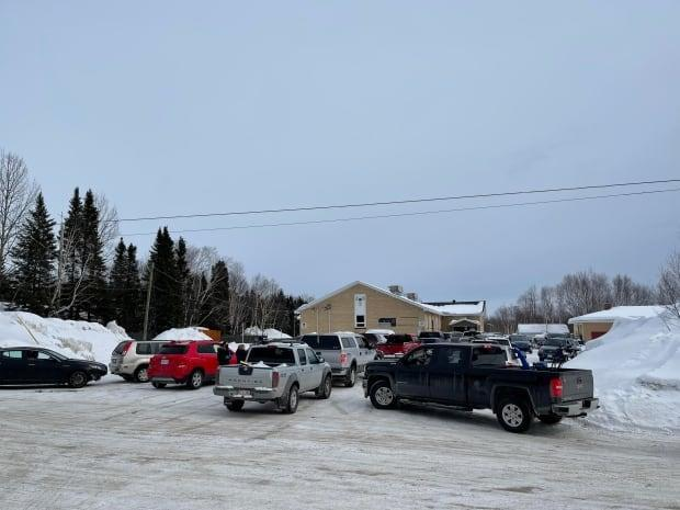 The stream of vehicles was steady at the Max Winters Memorial Community Freezer on Thursday as beneficiaries of the Nunatsiavut government received their caribou meat.