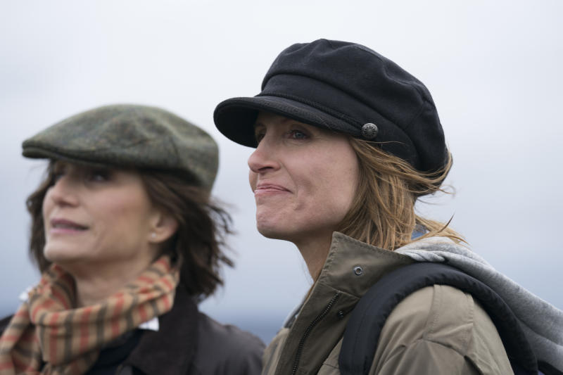 Kristin Scott Thomas and Sharon Horgan in a scene from <i>Military Wives</i>. (Lionsgate)