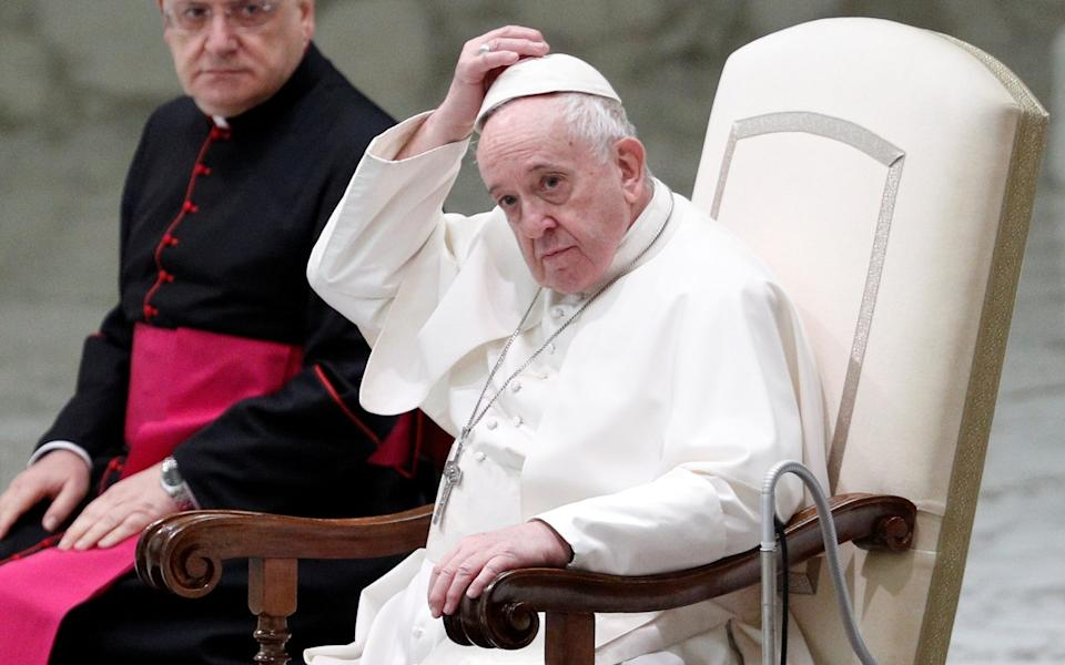 The pope gave his comments during a new film released today - GUGLIELMO MANGIAPANE/REUTERS