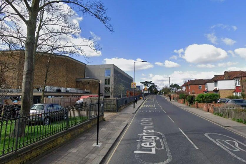 <p>Police were called to reports of a man attacking people with a pole near a school in Streatham</p> (Google)