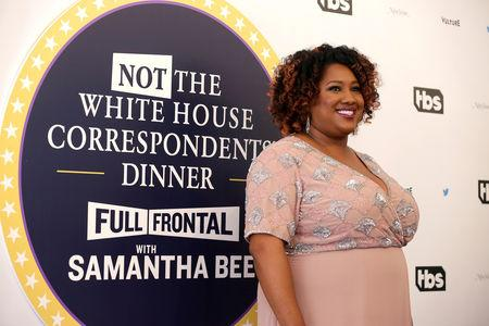 FILE PHOTO: Ashley Nicole Black arrives for the Not the White House Correspondents' Dinner in Washington, U.S., April 29, 2017.      REUTERS/Joshua Roberts/File Photo