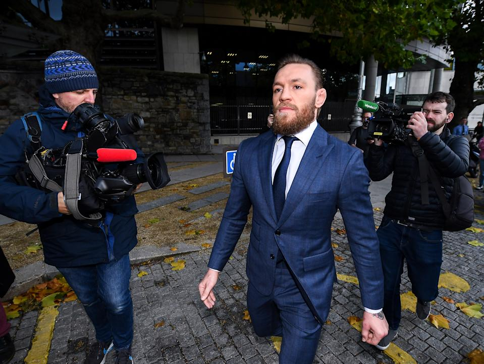 Overseas sexual assault allegations linger against Conor McGregor ahead of his anticipated January fight in Las Vegas. (David Fitzgerald/Getty)