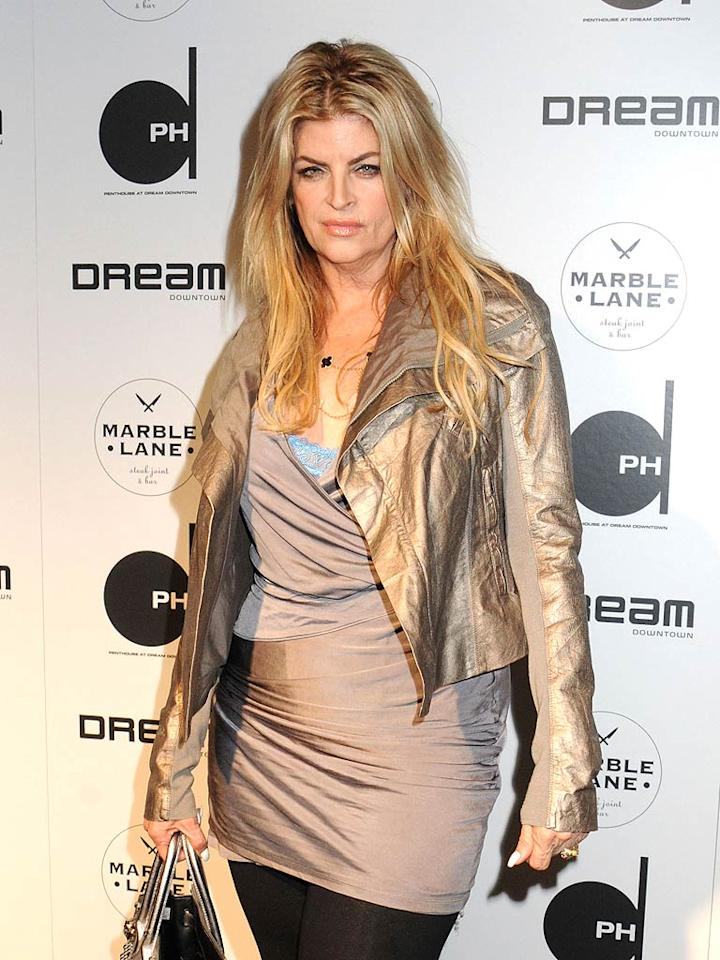 """Kirstie Alley recently claimed to <i>Life & Style</i> that she's close to reaching her goal waist size of 22 inches, the same as Megan Fox. You be the judge ... Johns PKI/<a href=""""http://www.splashnewsonline.com"""" target=""""new"""">Splash News</a> - June 15, 2011"""