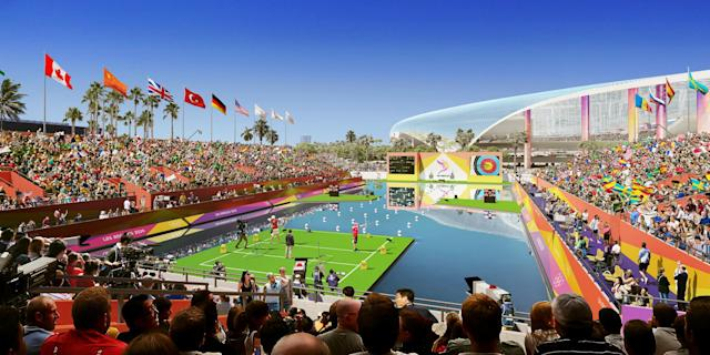 <p>Archery at LA Stadium. (Photo courtesy of LA2024) </p>