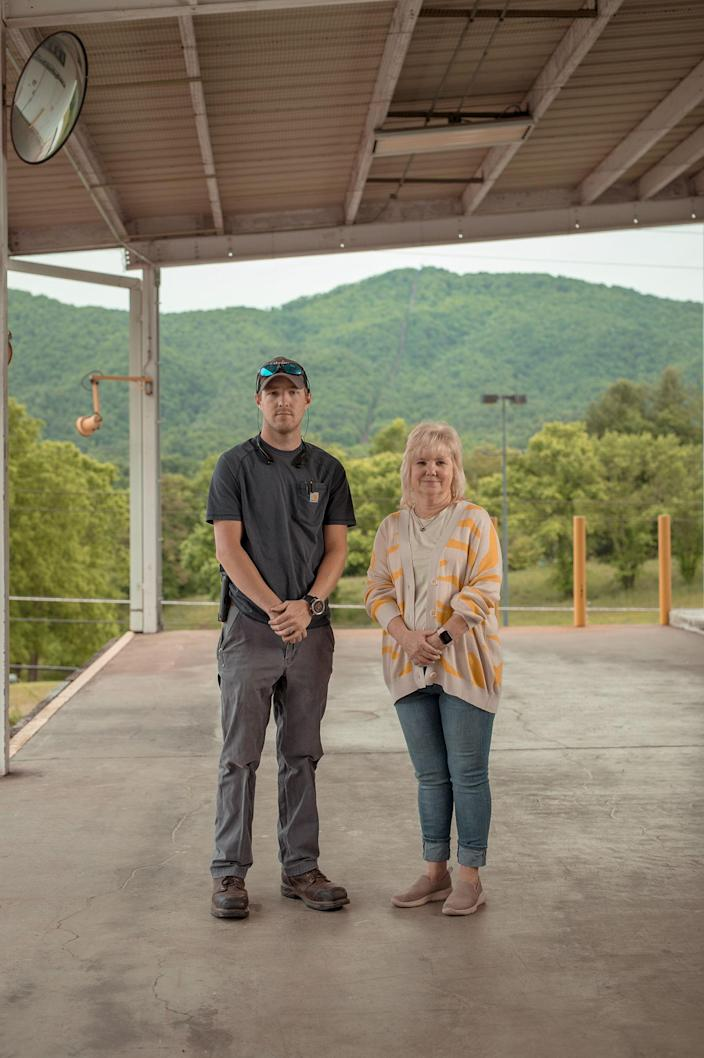 """Renea Jones Rogers, co-owner of Jones and Church Farms tomato farm, and her son, Nick Rogers<span class=""""copyright"""">Mike Belleme for TIME</span>"""