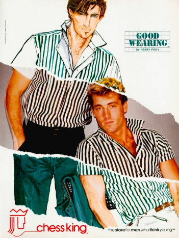 <p>So, Chess King was a men's clothing store, and I think we can all agree that its advertising strategy was a blatant cry for help. Understandably, it died a mall-store death in '95.</p>