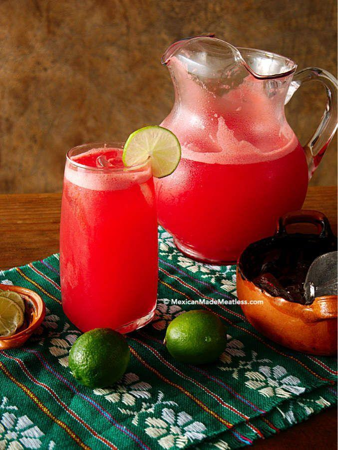 """<p>Enjoy all the fresh flavors of summer with this agua fresca that uses watermelon.</p><p><strong>Get the recipe at <a href=""""https://mexicanmademeatless.com/how-to-make-watermelon-agua-fresca/"""" rel=""""nofollow noopener"""" target=""""_blank"""" data-ylk=""""slk:Mexican Made Meatless"""" class=""""link rapid-noclick-resp"""">Mexican Made Meatless</a>.</strong></p><p><strong><a class=""""link rapid-noclick-resp"""" href=""""https://go.redirectingat.com?id=74968X1596630&url=https%3A%2F%2Fwww.walmart.com%2Fsearch%2F%3Fquery%3Dpitchers&sref=https%3A%2F%2Fwww.thepioneerwoman.com%2Ffood-cooking%2Fmeals-menus%2Fg32147587%2Fwatermelon-drink-recipes%2F"""" rel=""""nofollow noopener"""" target=""""_blank"""" data-ylk=""""slk:SHOP PITCHERS"""">SHOP PITCHERS</a><br></strong></p>"""