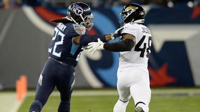 """Titans RB Derrick Henry on 99-Yard Touchdown Run vs Jaguars Last Year: """"I Am Tired of Seeing It"""""""