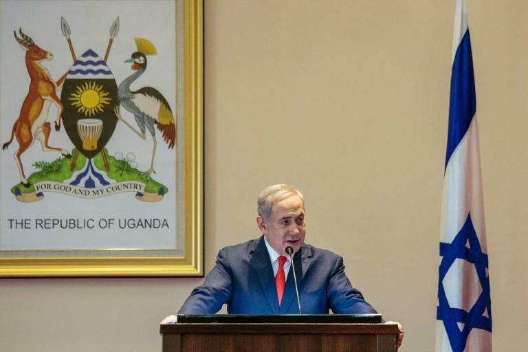 Israeli Prime Minister Benjamin Netanyahu has said Sudan's leader promised moves towards normalisation in a suprise meeting in Uganda that has sparked a political storm (AFP Photo/SUMY SADURNI)