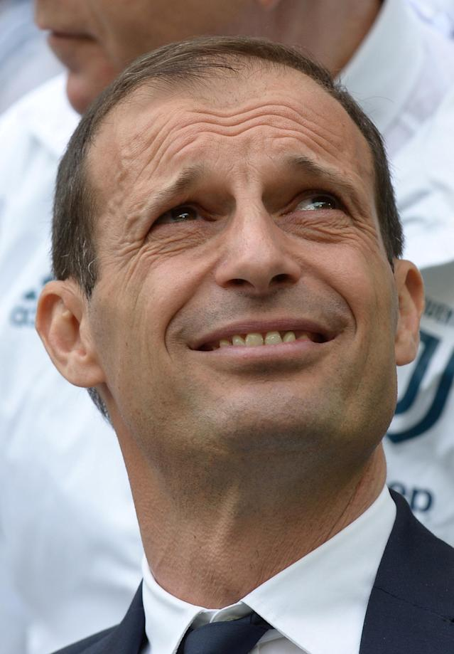 Soccer Football - Serie A - Juventus vs Hellas Verona - Allianz Stadium, Turin, Italy - May 19, 2018 Juventus coach Massimiliano Allegri REUTERS/Massimo Pinca