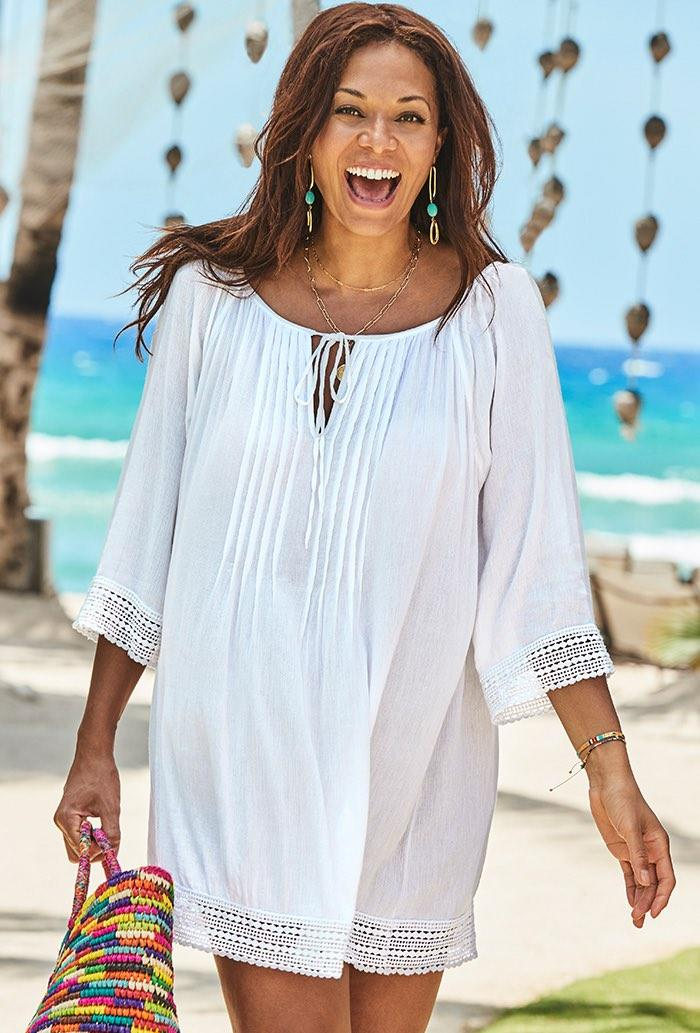 Giana White Crochet Tunic (Credit: Swimsuits for All)