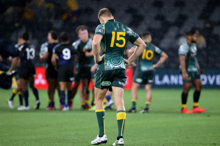 Disappointed: Australia's Reece Hodge after the Wallabies drew with Argentina for the second Test running