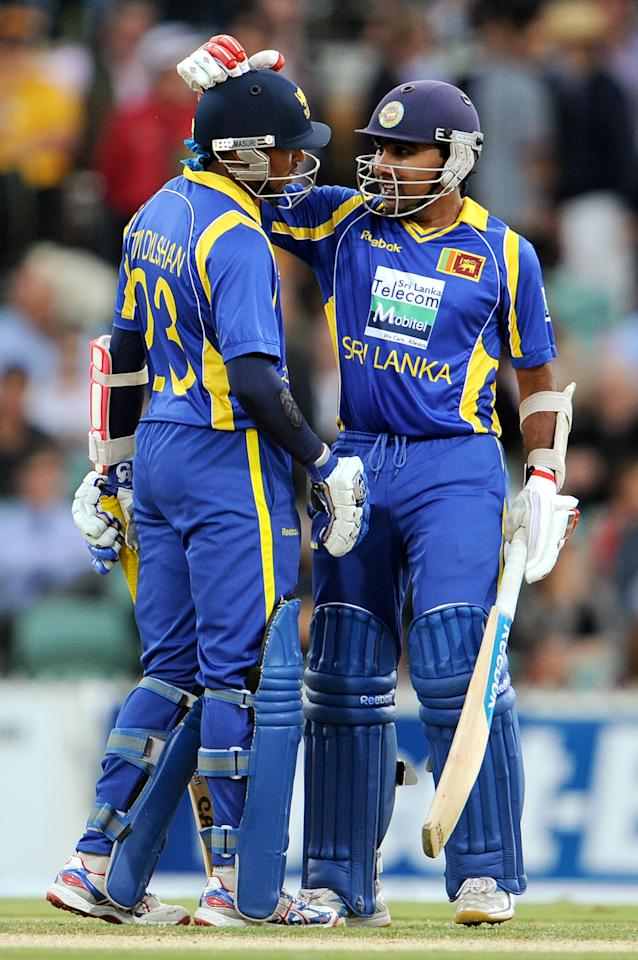 Jayawardene had an early let-off when he was caught behind off a Clint McKay no-ball and Dilshan was given not out on 77 with television replays showing him edging to wicketkeeper Matthew Wade from Shane Watson's bowling.