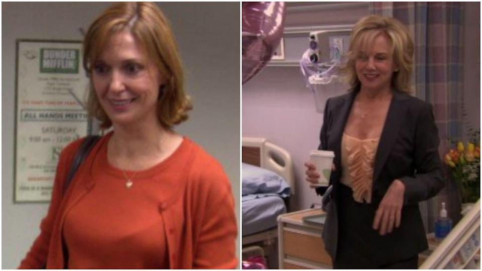 <p>You probably remember Pam's mom (actress Linda Purl) for her awkward hookup with Michael Scott. But when we first met her, she was played by Shannon Cochran and had an entirely different hair color. Not to mention, like, face. </p>