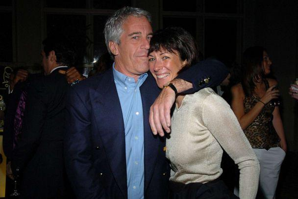 PHOTO: Jeffrey Epstein and Ghislaine Maxwell attend de Grisogono Sponsors The 2005 Wall Street Concert Series Benefitting Wall Street Rising, with a Performance by Rod Stewart at Cipriani Wall Street on March 15, 2005 in New York. (Patrick Mcmullan/Patrick McMullan via Getty Image, FILE)