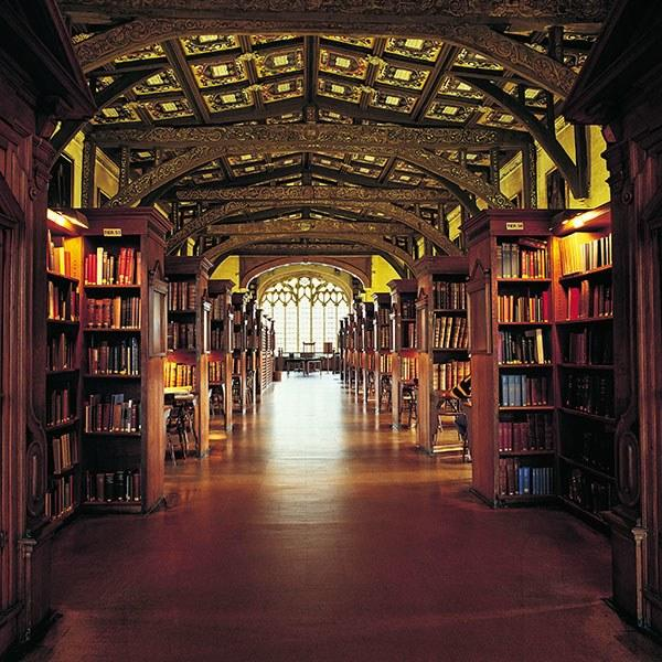 Built in 1488, Duke Humfrey's Library at Oxford University is the oldest part of the Bodleian Library, a group of five buildings that range in date from the late medieval period to the early 20th century.