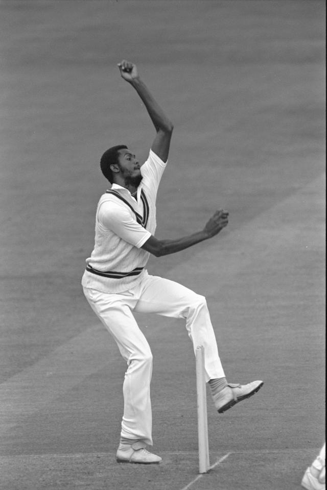 Jul 1988 :  Courtney Walsh of the West Indies bowls during the 2nd Test between England and West Indies at Lords.         Mandatory Credit:  Adrian Murrell/Allsport UK