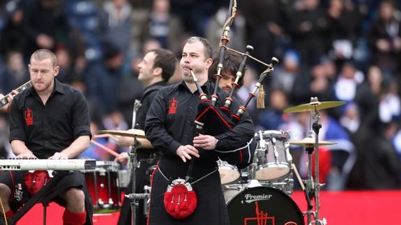 Fiery band: The Red Hot Chili Pipers (Photo: Lynne Cameron/PA Images via Getty Images)