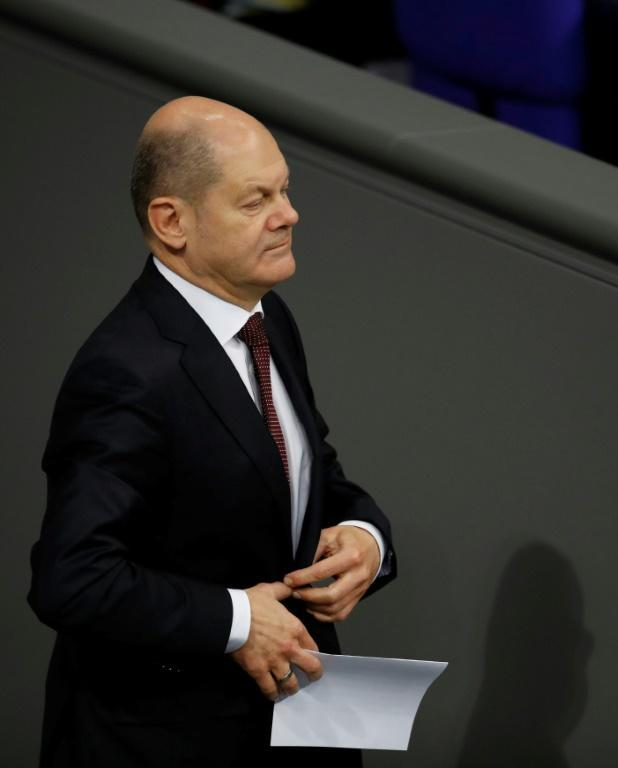 Rank and file Social Democrats delivered a humiliating blow to Finance Minister Olaf Scholz's run for co-chair of his centre-left party (AFP Photo/Odd ANDERSEN)