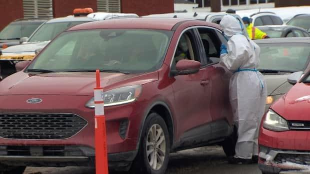 A temporary testing site was set up at Mount Pearl Senior High in mid-February at the height of the outbreak.