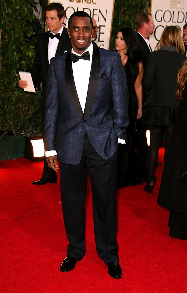 """Sean """"Diddy"""" Combs looked like a missing member from the """"Rat Pack"""" at the 2007 Globes. Steve Granitz/<a href=""""http://www.wireimage.com"""" target=""""new"""">WireImage.com</a> - January 15, 2007"""