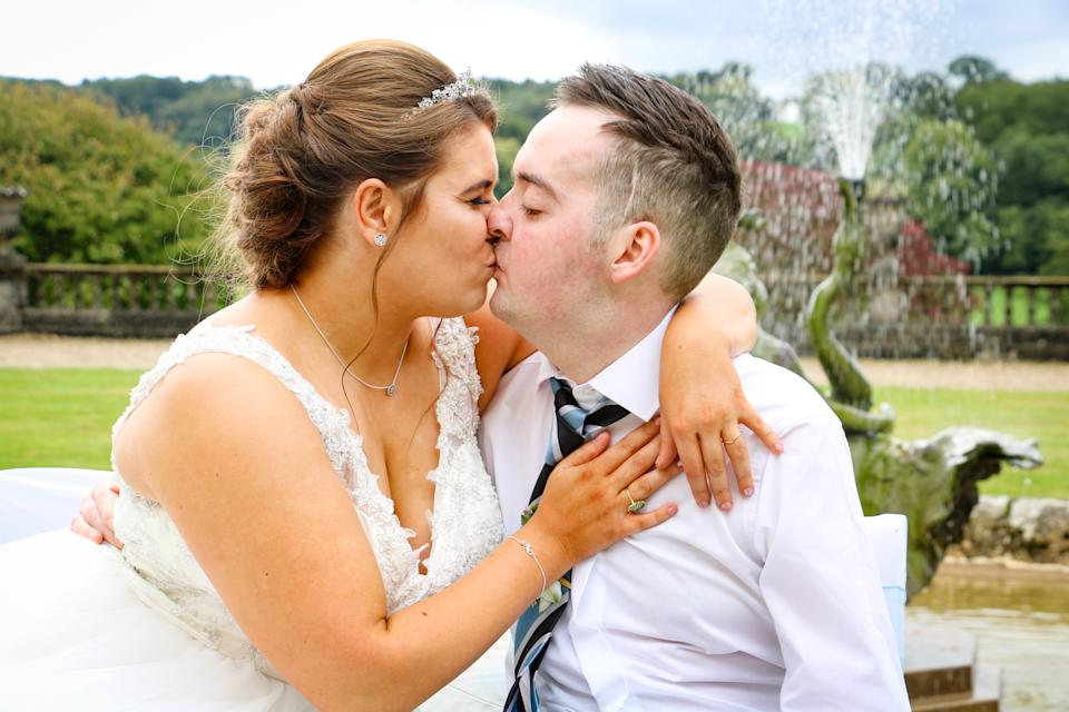 A couple saw their entire wedding donated by well-wishers after the groom received a terminal diagnosis [Photo: SWNS]