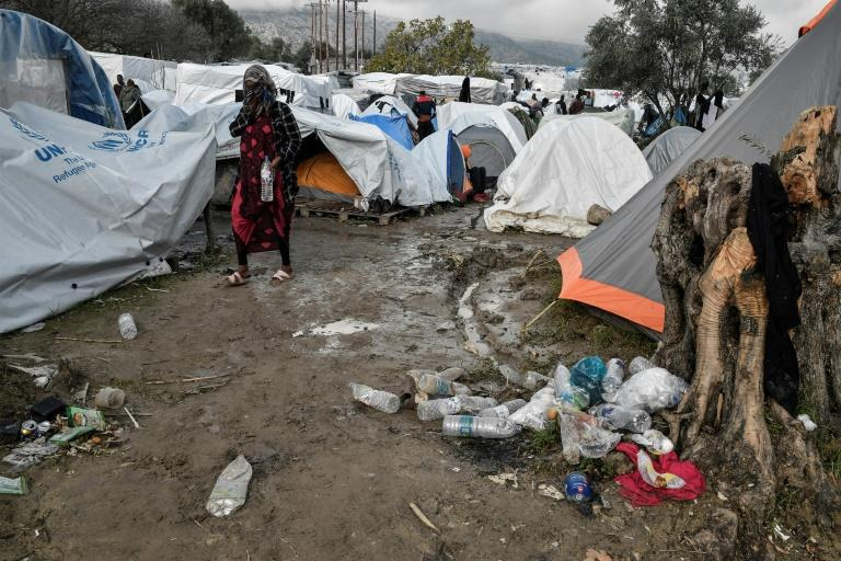 The squalor of the migrant camp on the Greek island of Chios