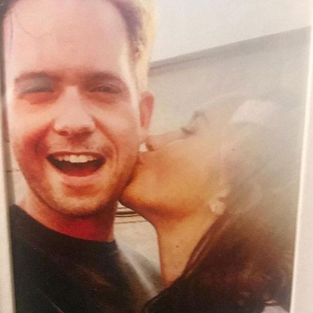 Suits star Patrick J. Adams has been forced to delete his Instagram account after sharing this fun snap of him and co-star Meghan Markle, who is dating Prince Harry. Source: Instagram