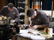 """<p>There are only three judges, but chefs on <em>Chopped</em> plate four meals and the <a href=""""https://www.foodnetwork.com/fn-dish/shows/2016/05/secrets-behind-the-chopping-block-host-ted-allen-answers"""" rel=""""nofollow noopener"""" target=""""_blank"""" data-ylk=""""slk:extra dish is used for B-roll"""" class=""""link rapid-noclick-resp"""">extra dish is used for B-roll</a>. It will also, sadly, appear on the chopping block if you're eliminated. </p>"""