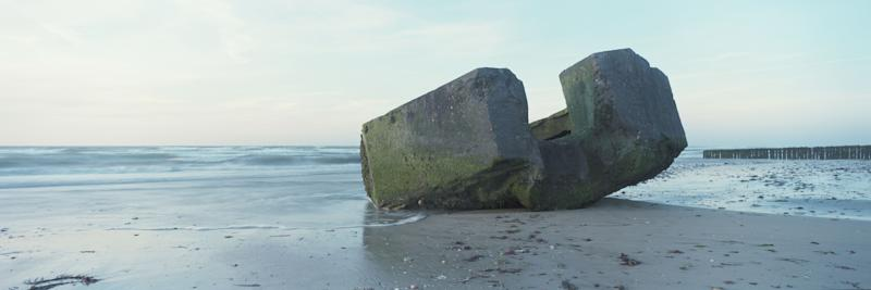 The remains of a German defense bunker along a section of what was known as 'Gold Beach' that would have been used during the June 6, 1944 D-Day landings, on April 30, 2019 in Ver-sur-Mer, on the Normandy coast, France. (Photo: Dan Kitwood/Getty Images)