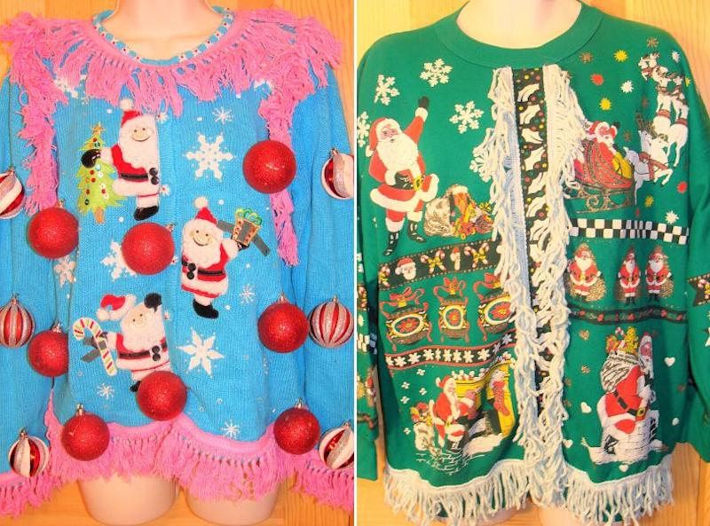 Some of Anne Marie Blackman's early ugly Christmas sweater designs. (Photo: Courtesy of Anne Marie Blackman)