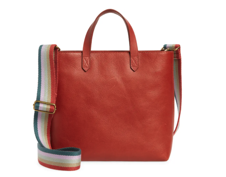 Madewell Small Transport Leather Crossbody Tote. Image via Nordstrom.