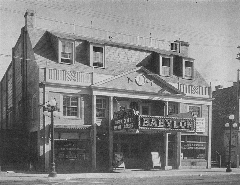 <p>The Babylon Theatre opened in 1913. It showed classic films like <em>The Prisoner of Zenda </em>and <em>The Stolen Legacy </em>but was short-lived, closing in 1922. Three years later, the theatre reopened under new ownership. It survived two fires and continued as a cinema until 2014.</p>