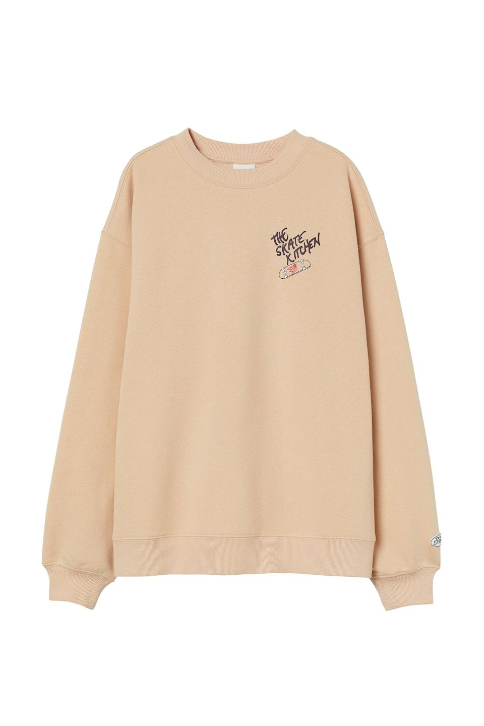 <p>This <span>No Fear x H&amp;M Printed Sweatshirt</span> ($25) is just a cool piece. It'll also make for a unique and fun gift.</p>