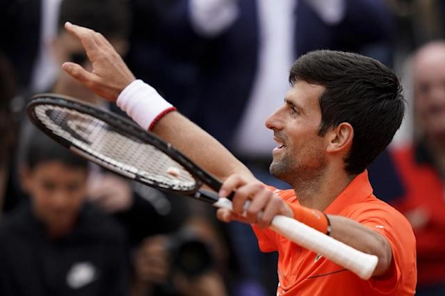 Father's day: Novak Djokovic celebrates after winning against Switzerland's Henri Laaksonen (AFP Photo/Kenzo TRIBOUILLARD)