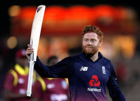 Cricket - England vs West Indies - Fifth One Day International - The Rose Bowl, Southampton, Britain - September 29, 2017 England's Jonny Bairstow celebrates after the match Action Images via Reuters/Paul Childs