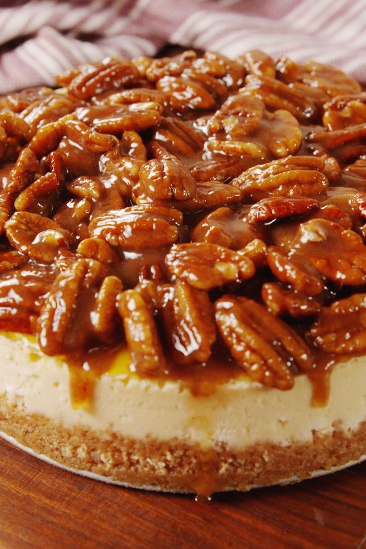 """<p>Take your pecan pie to the next level.</p><p>Get the recipe from <a href=""""https://www.delish.com/cooking/recipe-ideas/recipes/a56639/pecan-pie-cheesecake-recipe/"""" rel=""""nofollow noopener"""" target=""""_blank"""" data-ylk=""""slk:Delish"""" class=""""link rapid-noclick-resp"""">Delish</a>. </p>"""
